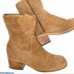 Vintage Candies suede square toe boho boots 8